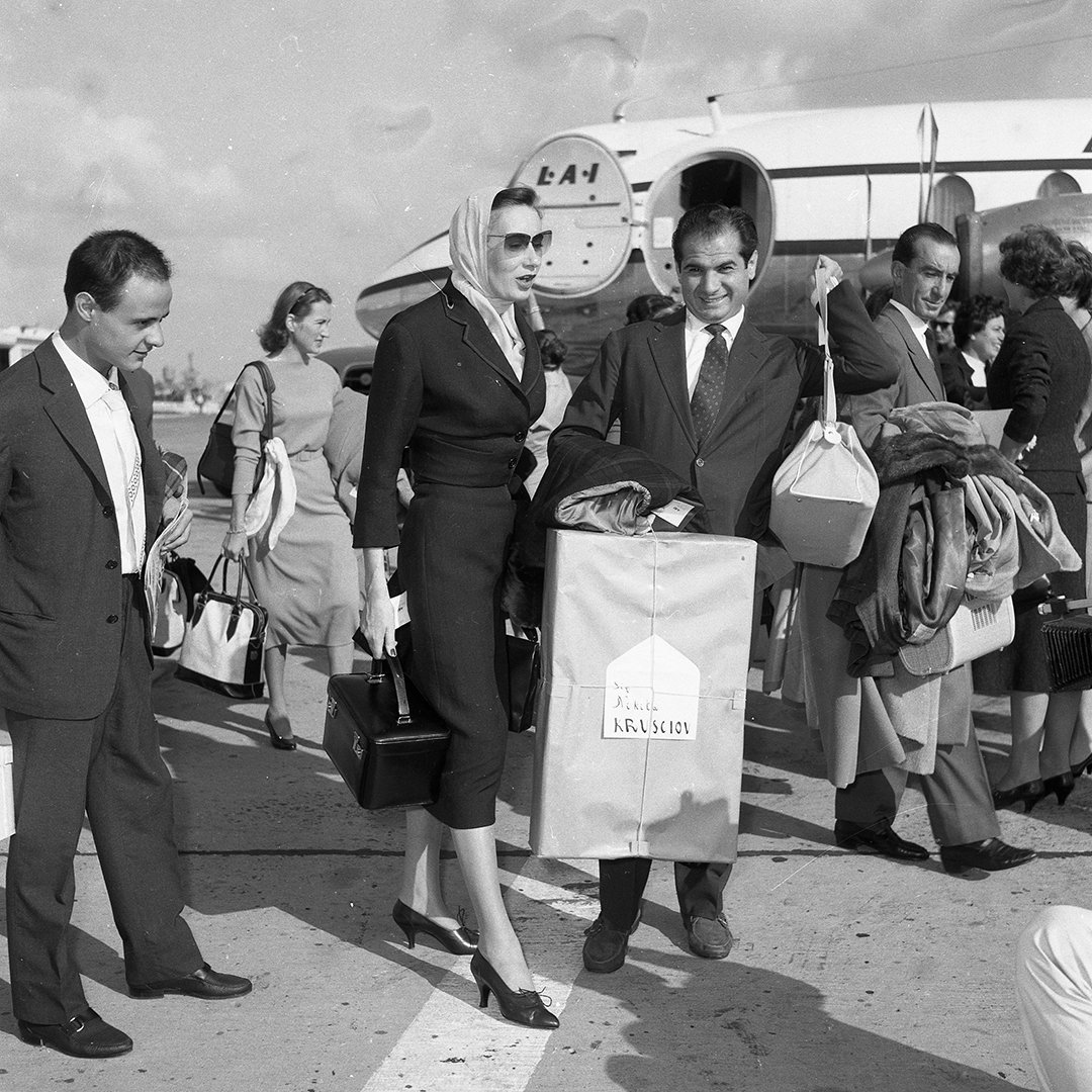 August 26, 1957 departure for Moscow with the famous gift for the Premier of the Communist Party 2 - Angelo Litrico