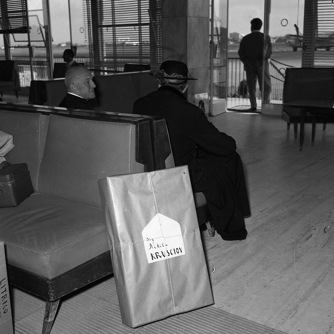 August 26, 1957 departure for Moscow with the famous gift for the Premier of the Communist Party - Angelo Litrico