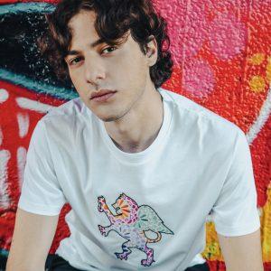 t-shirt leone alato luca litrico