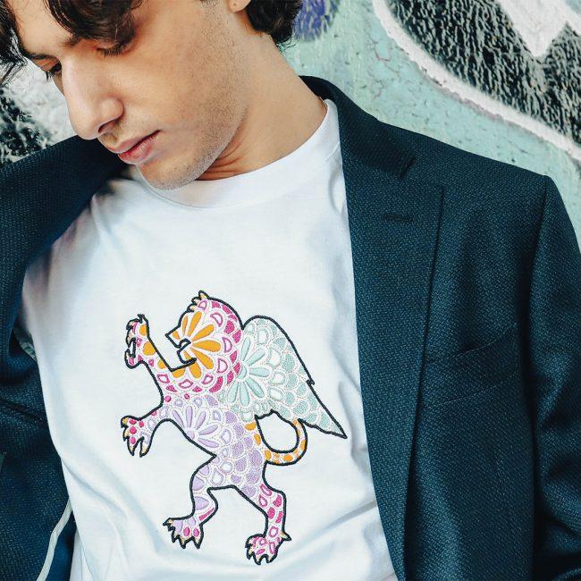 t-shirt street wear leone alato luca litrico
